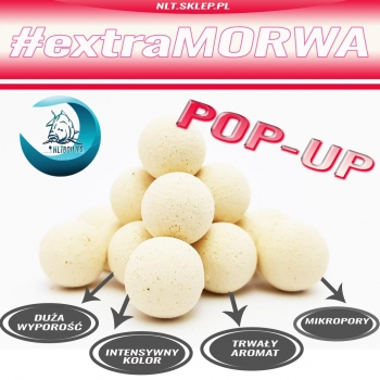 NLT BOILIES - Kulki POP-UP Biała / White #extraMORWA 16mm 80g-2062